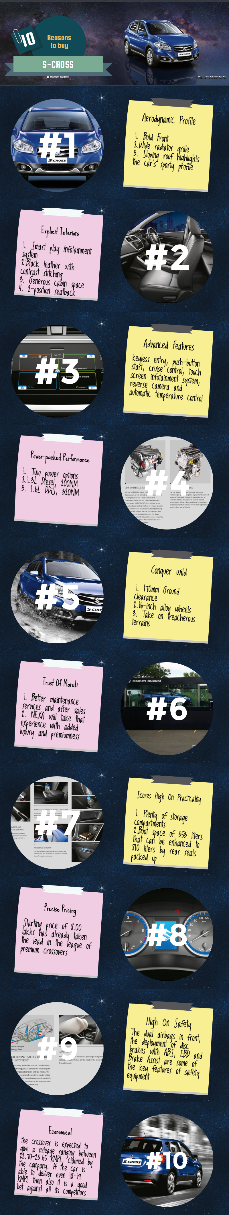 Top 10 reason to buy S-Cross - Infographic