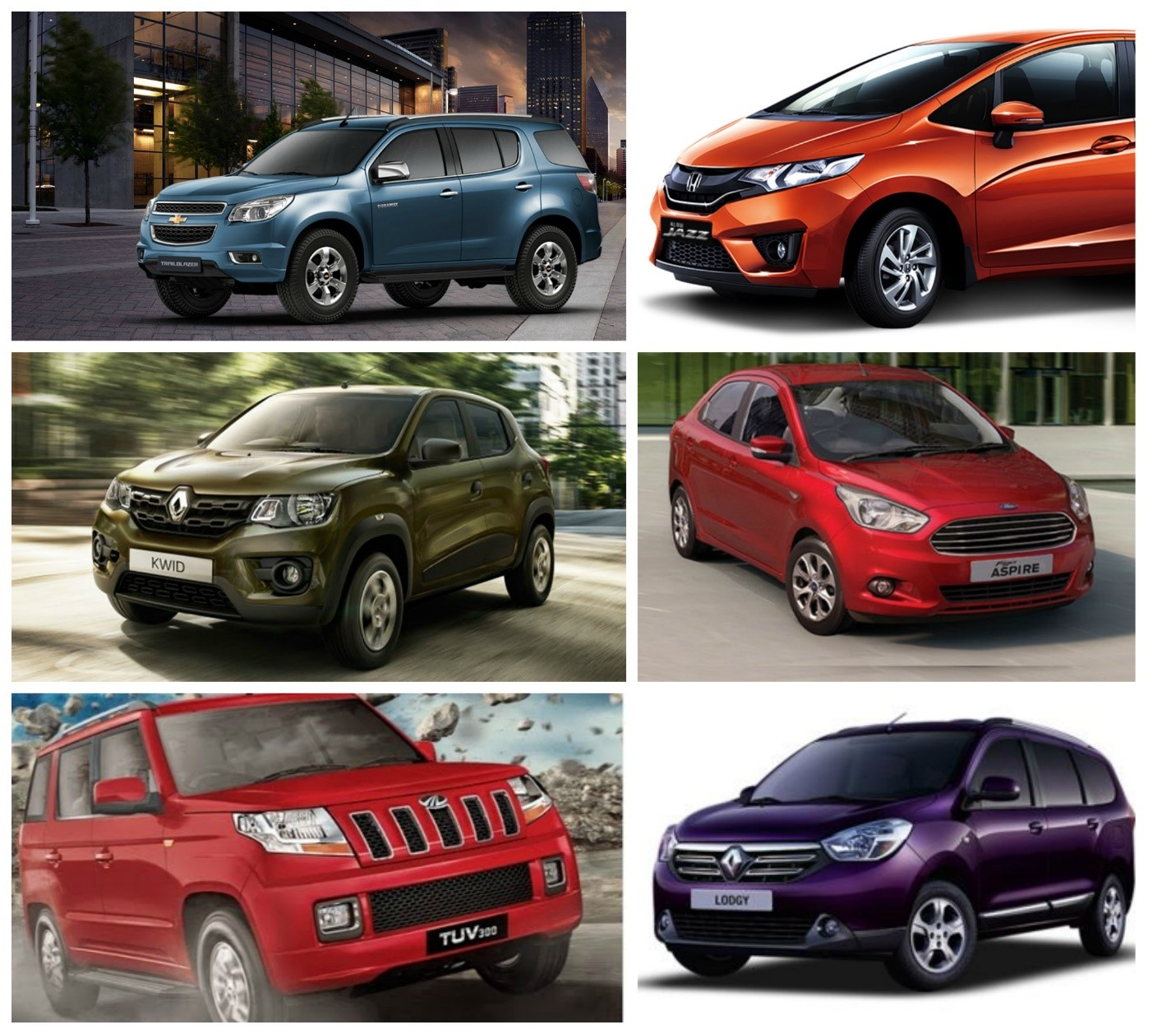 List fof Cars which launched in 2015