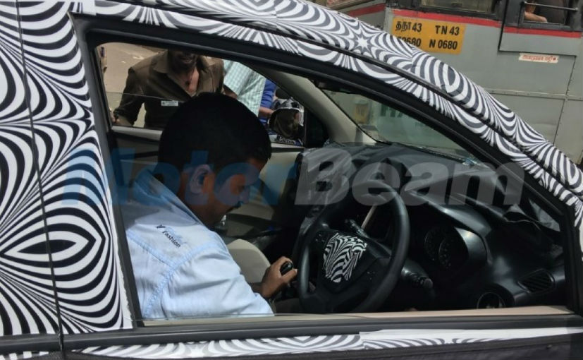 Interiors of new gen Hyundai Santro spied