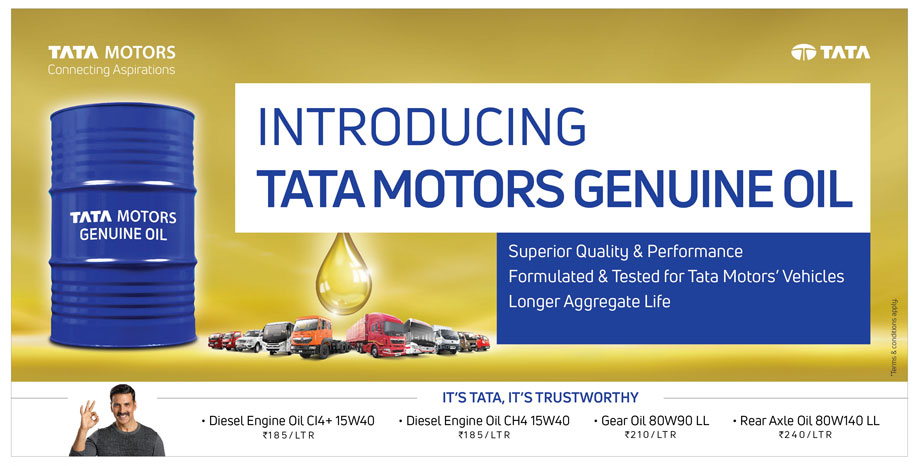 Tata Motors launches Genuine Oil for entire lineup of commercial vehicles