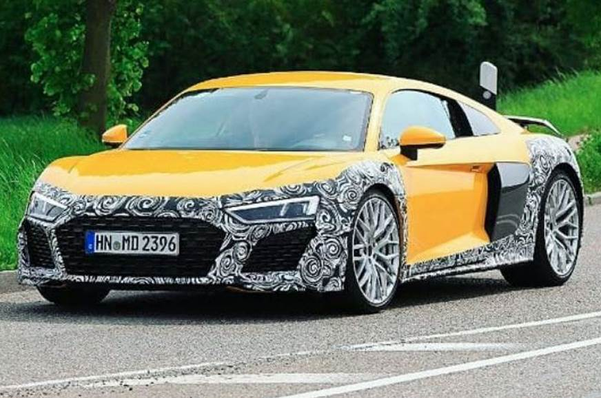 Audi R8 has been seen testing and will be released on 2019