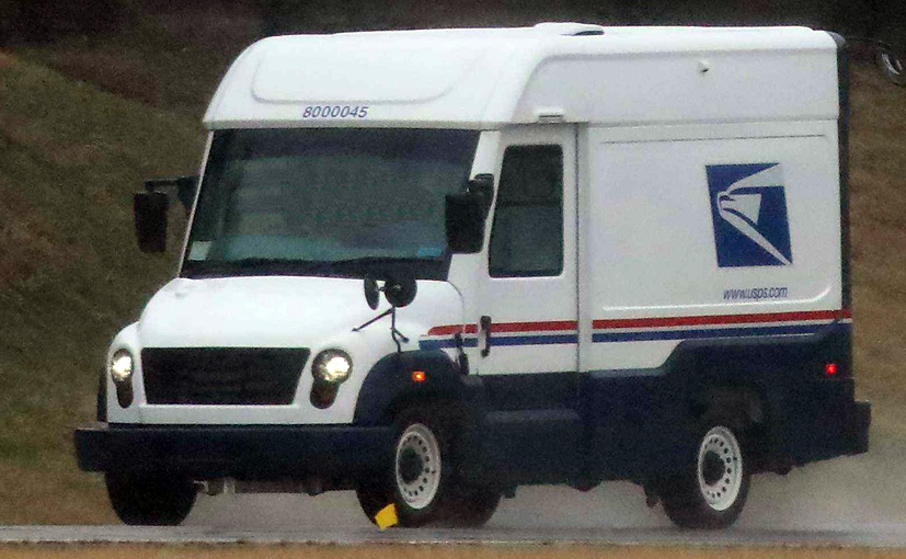 Images Of The New US Postal Mail Service Truck By Mahindra Spied On