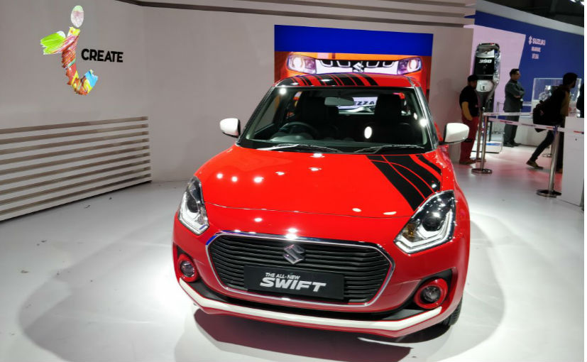Maruti Swift iCreate version shown at Auto Expo 2018