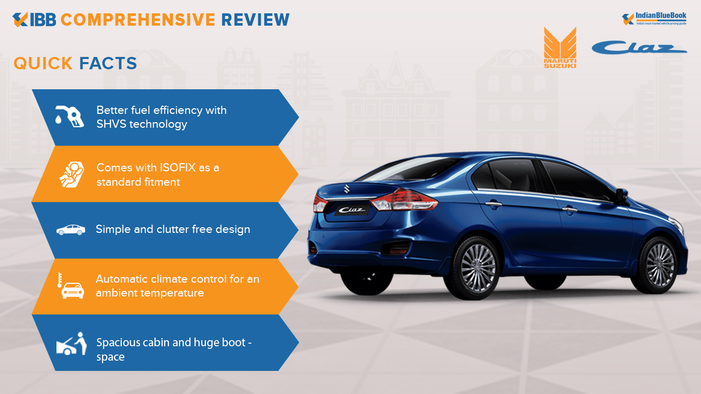 Maruti Suzuki Ciaz Quick Facts