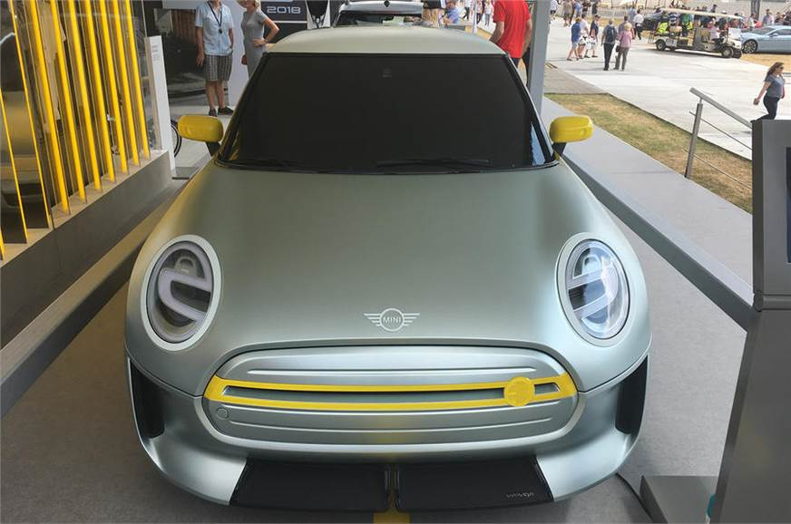 Mini Electric displayed at Goodwood