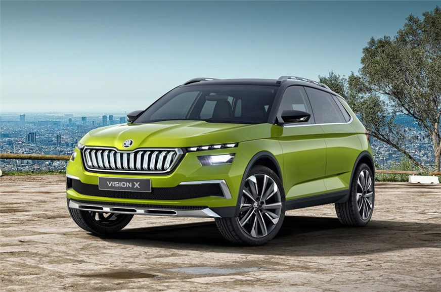 Skoda unveils the new Skoda Vision X SUV concept ahead of its debut in Genev