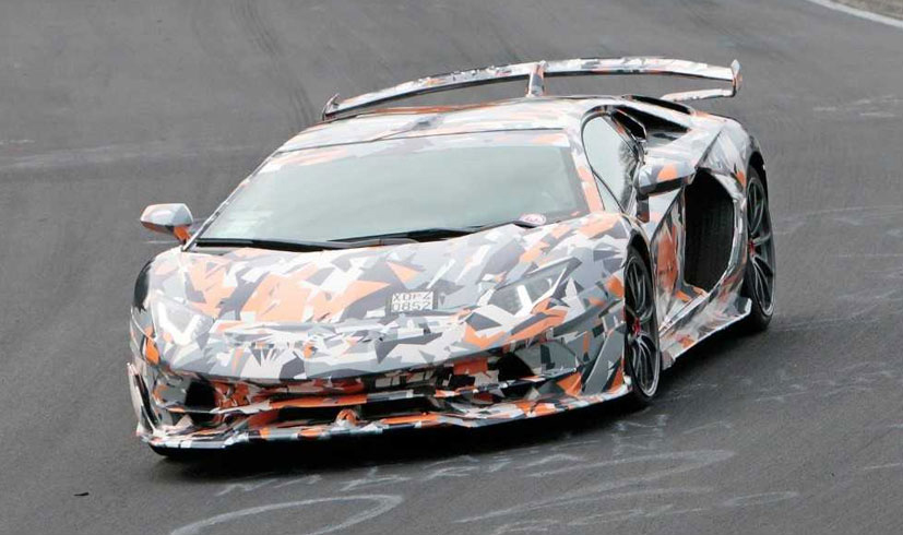 The Lamborghini Aventador has been seen rustling the race track in Nurbu.._