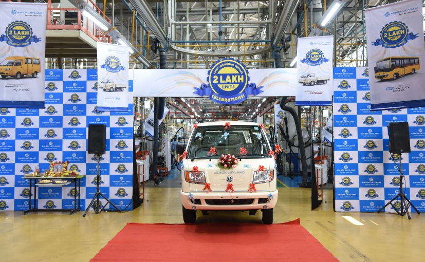 The honour of the production of the 200000th LCV by Ashok Leyland went to Hosur plant
