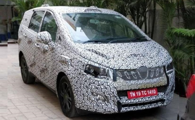 Upcoming Mahindra MPV U321 Spotted up Close_ Start later this year