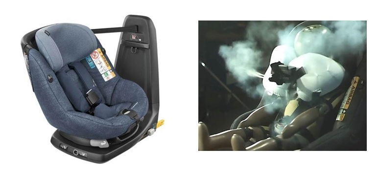 first child seat with built in airbags