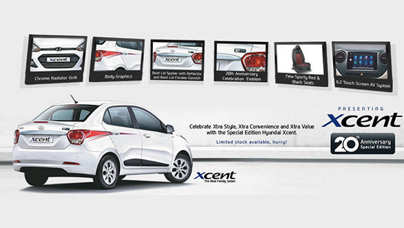 Hyundai Xcent 20th Anniversary Edition