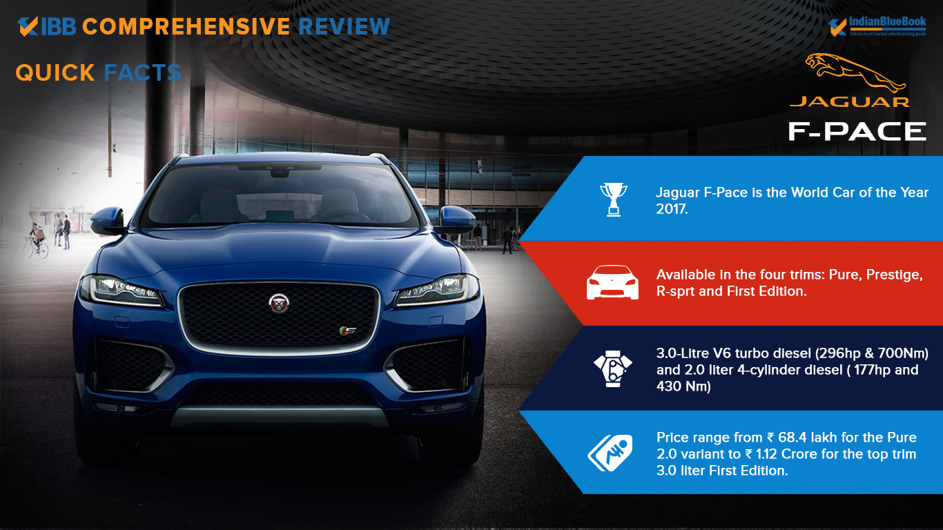 Jaguar F Pace Quick Facts