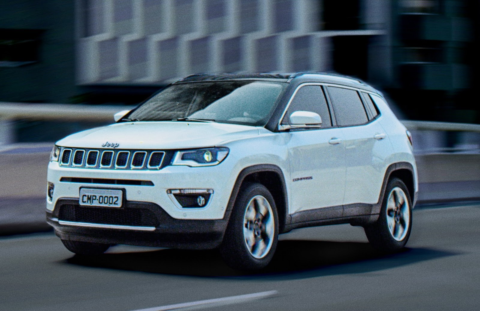 White Jeep Compass