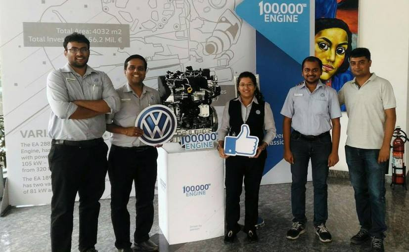 The 1,00,000th Mark of Volkswagen In Terms of Engine
