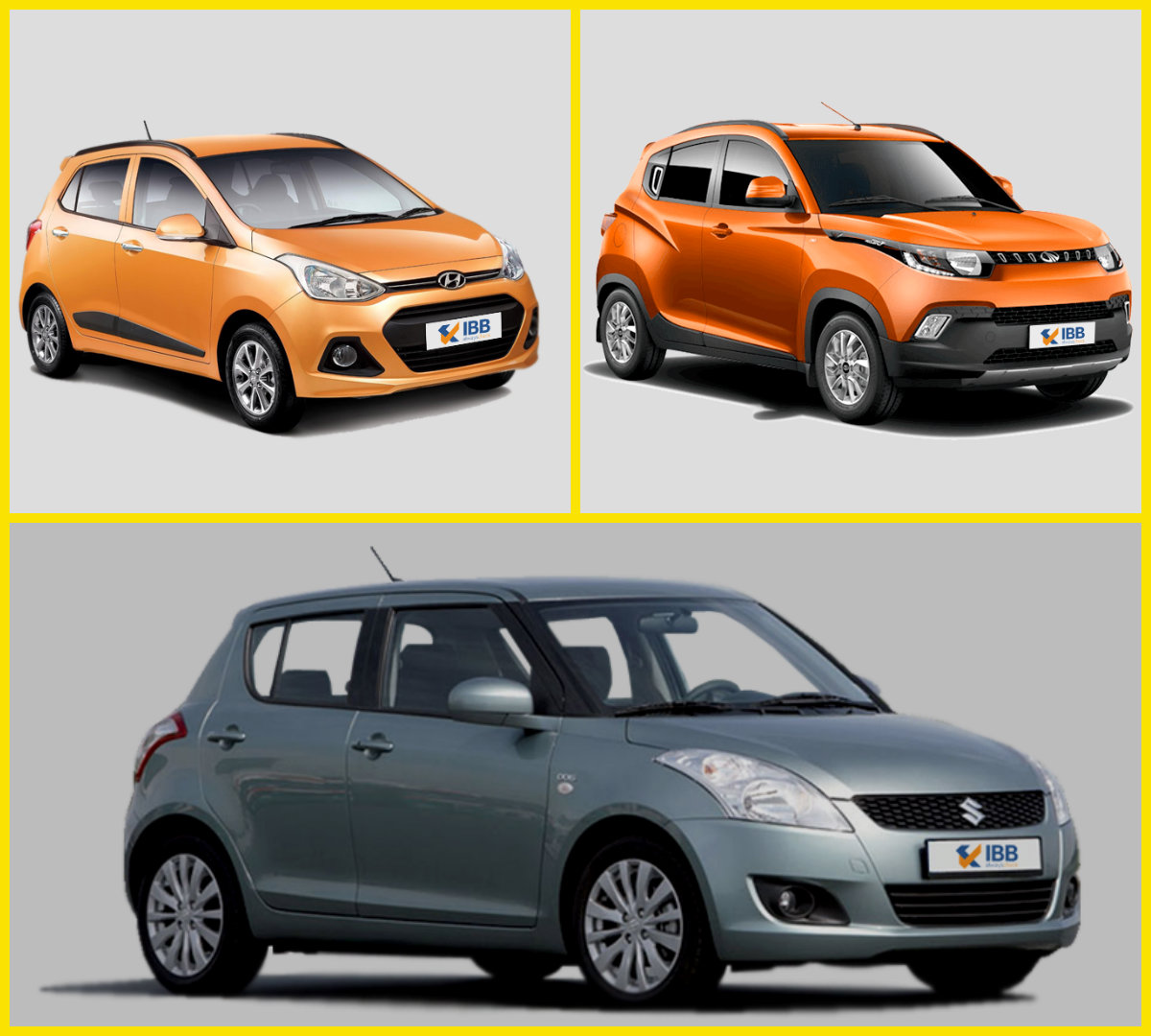 Mahindra KUV 100 Vs Maruti Suzuki Swift Vs Hyundai Grand i10