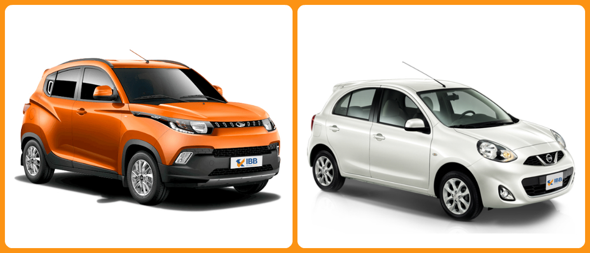 IBB Blog : Compare Cars - Mahindra KUV100 vs Nissan Micra Active
