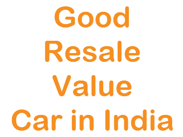 Resale Value of a car in India